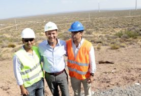 Gutiérrez supervisó los avances del primer parque eólico de la provincia