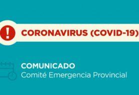Coronavirus: nuevo comunicado del Comité de Emergencia Provincial 29/06/2020 – 21:00