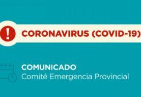 Coronavirus: nuevo comunicado del Comité de Emergencia Provincial. 31/08/2020 – 21:00