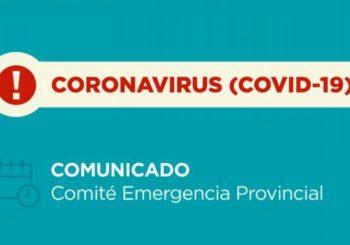 Coronavirus: Nuevo Comunicado del Comité de Emergencia Provincial- 27/11/2020 – 13:00