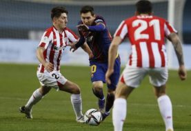 Con un gol de tiro libre de Messi, el Barcelona le ganó al Athletic Bilbao y es escolta del Atlético