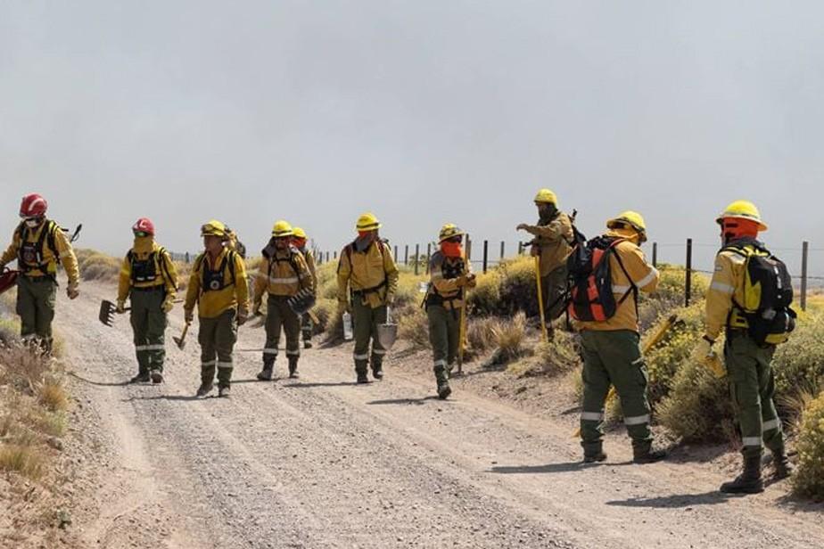 Incendio en El Bolsón: las tareas de los brigadistas siguen dando sus frutos
