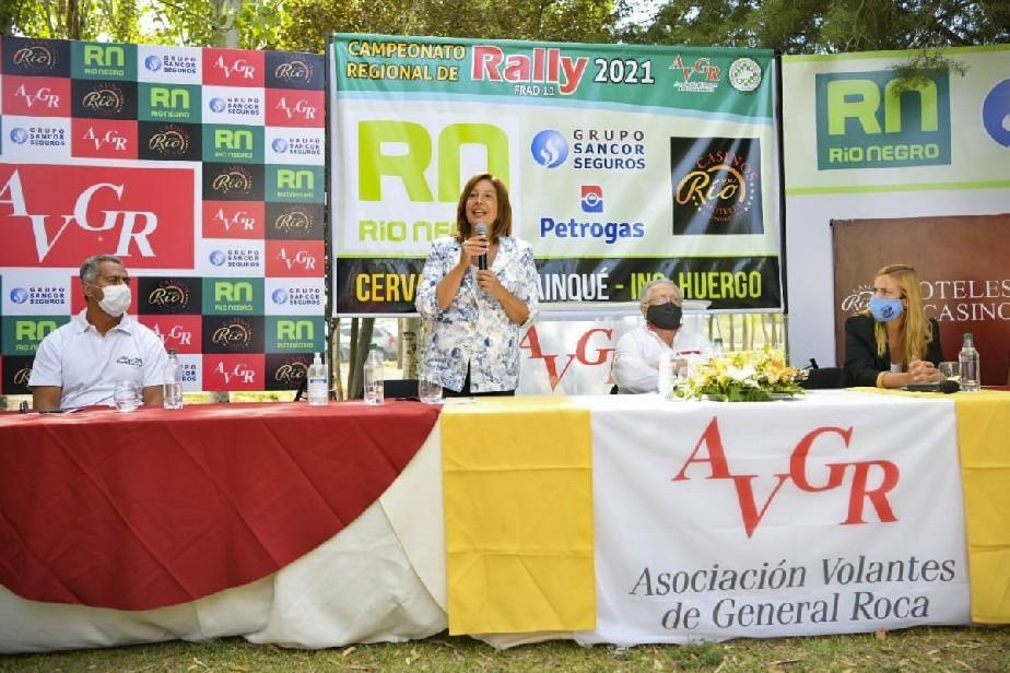 General Roca: Carreras participó del lanzamiento del Regional de Rally FRAD11