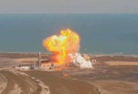 Fallido aterrizaje de un prototipo de cohete de la empresa de Elon Musk