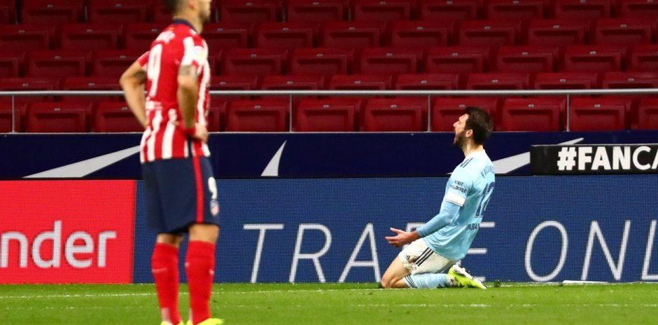 El Atlético de Madrid de Diego Simeone empató con el Celta de Vigo de Eduardo Coudet por 2-2