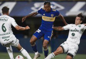Boca  apenas rescató un empate ante Sarmiento en la Bombonera