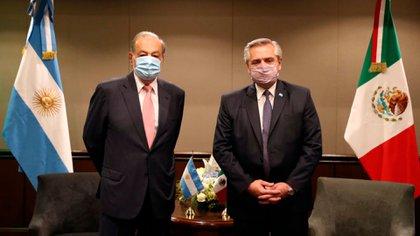 El magnate mexicano Carlos Slim se reunió con Alberto Fernández y se mostró optimista sobre la economía argentina