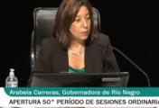 En vivo: Arabela Carreras abre el período Ordinario legislativo 2021 en Río Negro.