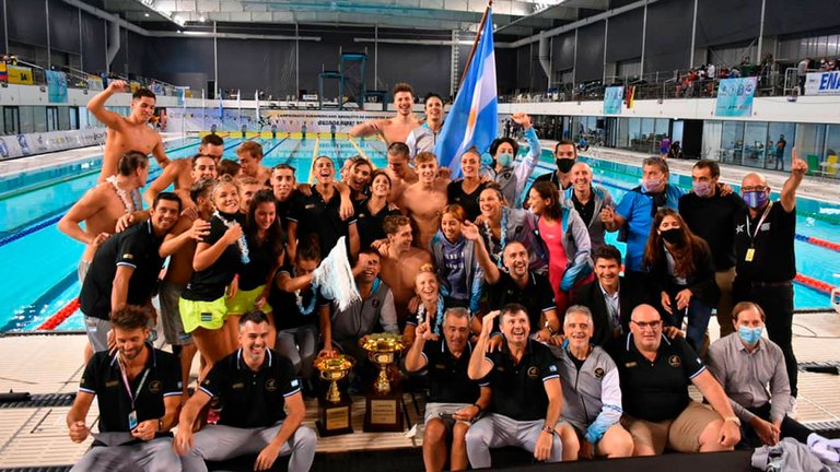 Histórico: Argentina se consagró campeón en el Sudamericano de Natación después de 55 años