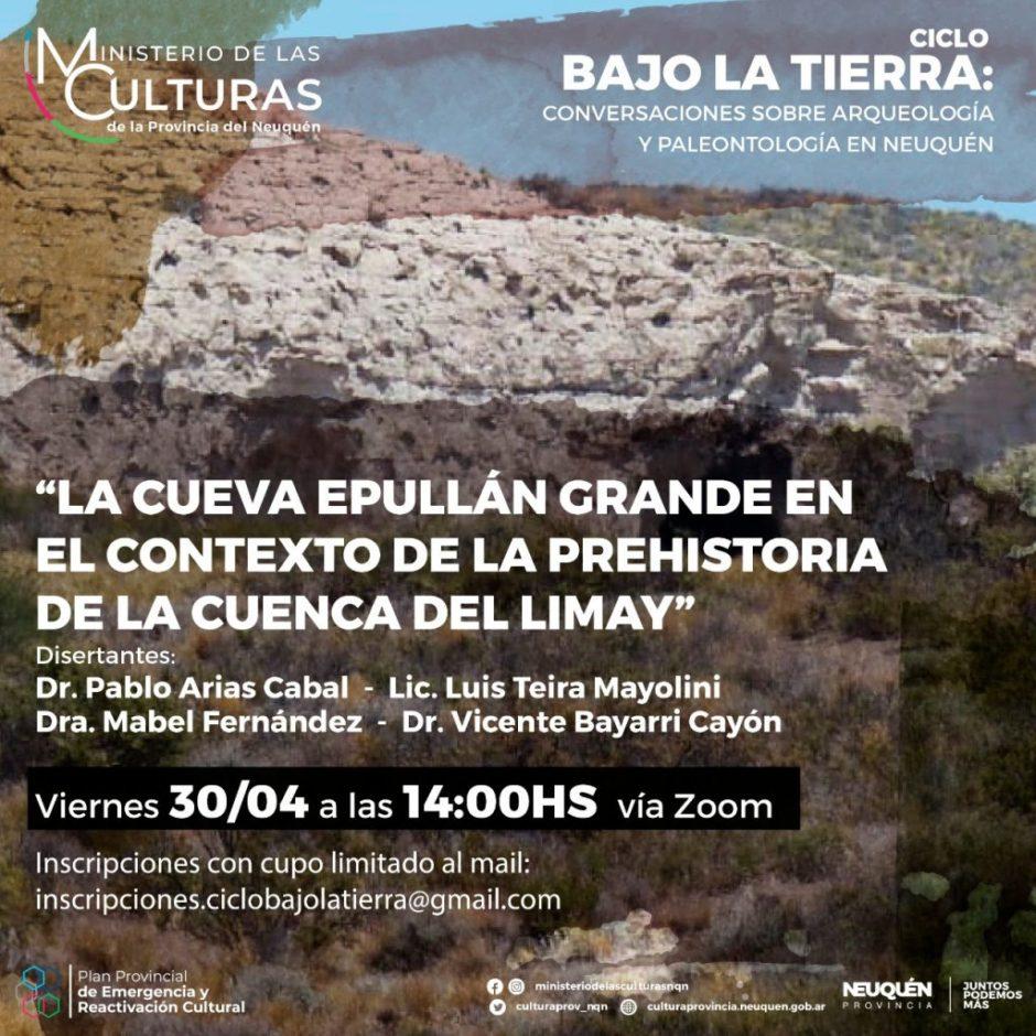 Presentarán las investigaciones arqueológicas sobre la cueva Epullán Grande