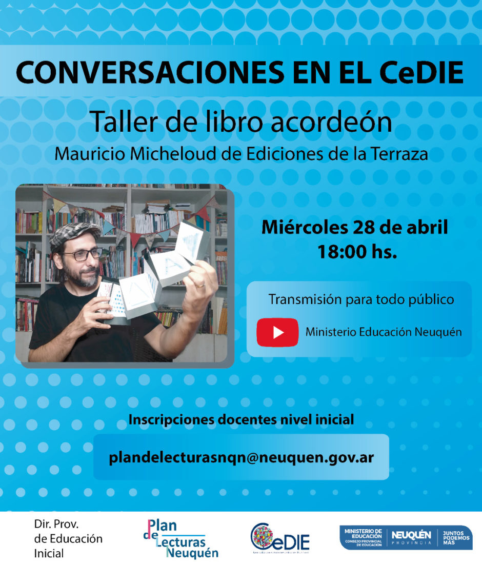 """Educación invita al conversatorio """"taller de libro acordeón"""""""