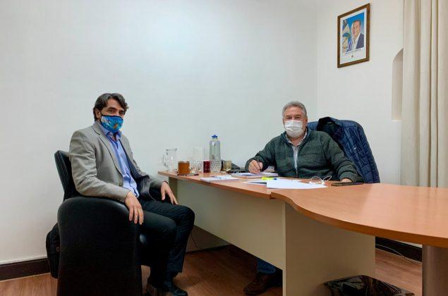 El intendente de San Martín, Saloniti, mantiene reuniones con funcionarios provinciales