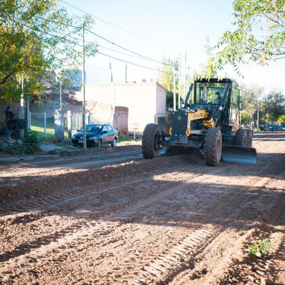 Neuquén: ya se repararon 320 cuadras afectadas por las lluvias y continúan los trabajos