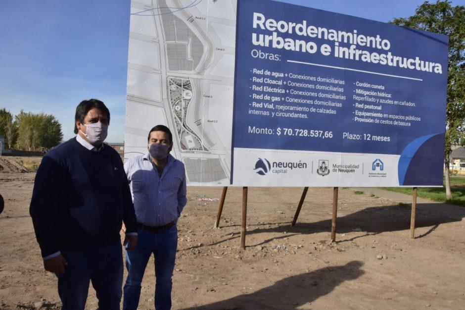 La Municipalidad de Neuquén  inicia  obras en  barrio Hi.Be.Pa