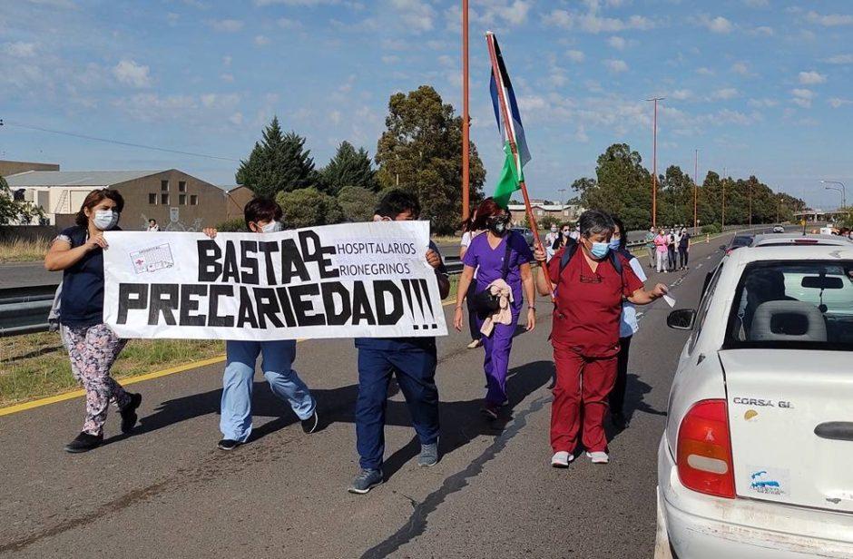 Cortes de ruta en Río Negro: por la crisis en salud hubo bloqueos en Bariloche y Campo Grande