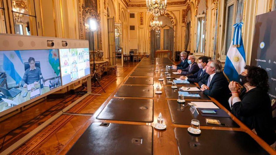 COVID19 – Avance de la segunda ola: Alberto Fernández exigió a los gobernadores un mayor compromiso para reforzar controles
