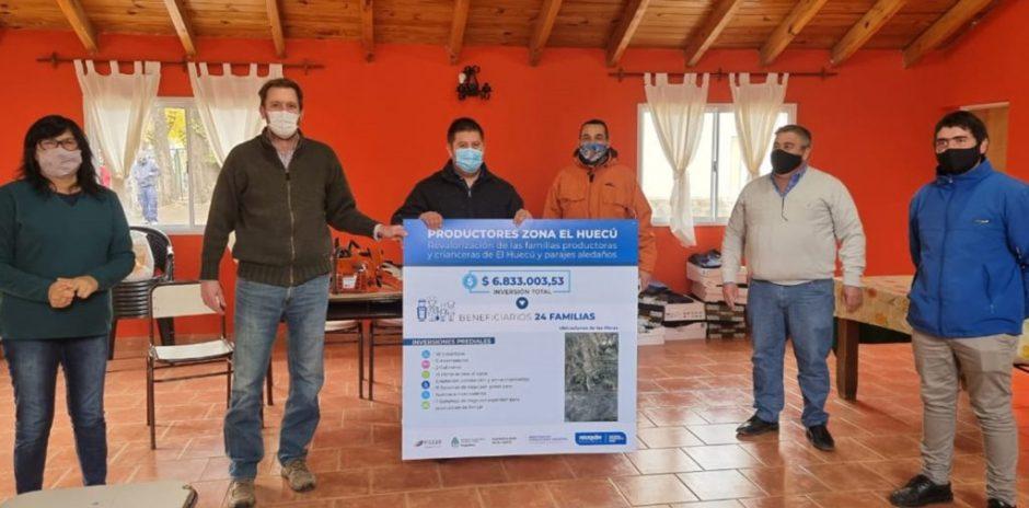 Avanzan las obras de Desarrollo Rural en El Huecú