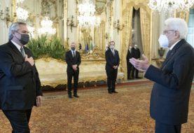 El Presidente almorzó con Mattarella y se reunió con el primer ministro Draghi