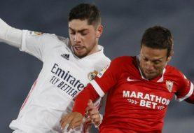 Real Madrid empató 2-2 ante Sevilla y el Atlético sigue siendo el líder de La Liga