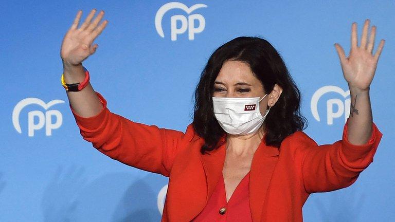 El Partido Popular logró una amplia victoria en las elecciones regionales de Madrid y Díaz Ayuso continuará como presidenta de la comunidad