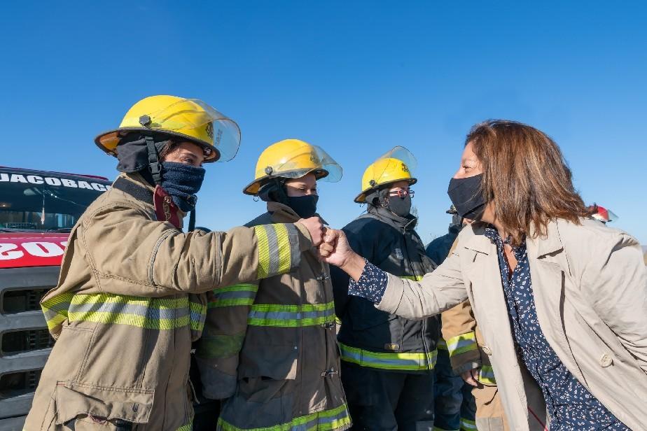 Aporte a bomberos voluntarios para comprar elementos de protección