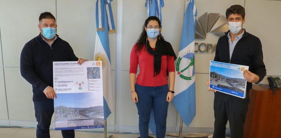 COPADE entregó la propuesta del Circuito Saludable para El Huecú
