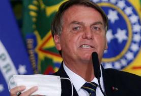 """Jair Bolsonaro y un duro cruce con una periodista que lo cuestionó por el uso del barbijo: """"¡Cállate la boca!"""""""