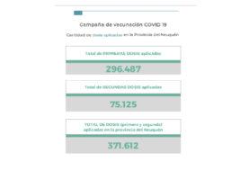 Neuquén reportó 4 muertes y sumó 221 nuevos contagios por COVID en las últimas 24 horas
