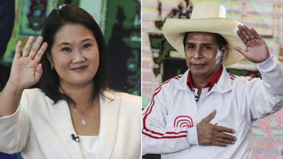 Ballotage en Perú: con el 94% de las actas procesadas, Pedro Castillo pasó al frente y supera a Keiko Fujimori por escaso margen