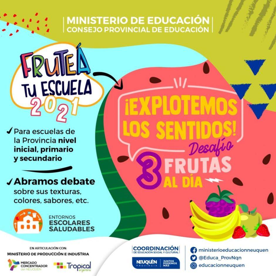 """Nueva convocatoria para participar de """"Fruteá tu escuela"""""""