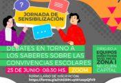 """Nueva jornada de sensibilización: """"debates en torno a los saberes sobre las convivencias escolares"""""""