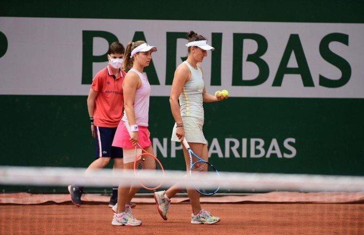 Nadia Podoroska cayó en semifinales del doble femeninos en Roland Garros