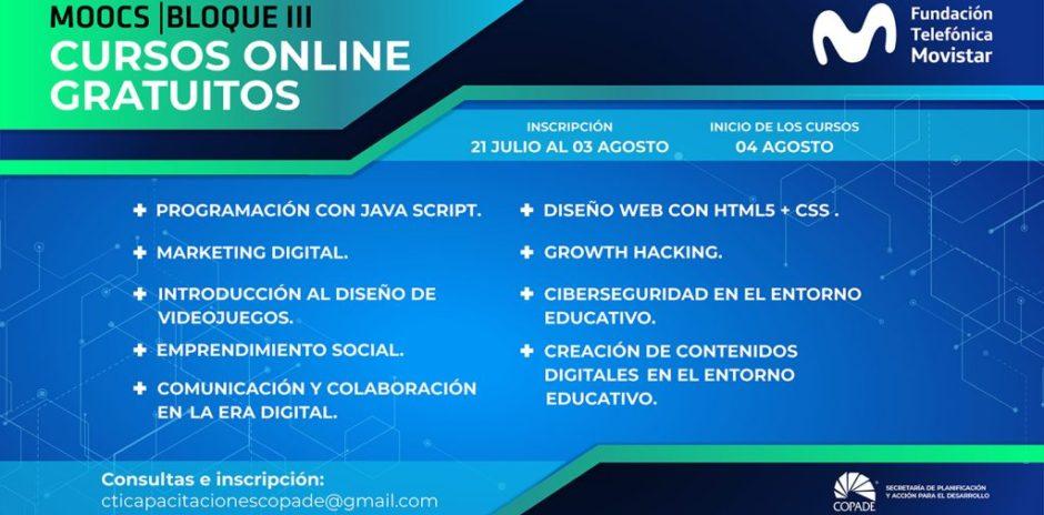 COPADE abrió una nueva convocatoria para cursos de la Fundación Telefónica Movistar