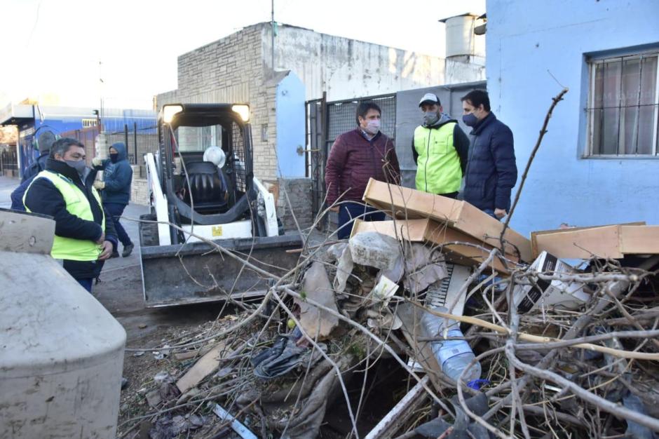 Gaido participó del operativo del operativo Puerta a Puerta en barrio El Progreso
