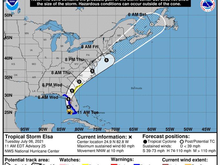 La tormenta tropical Elsa se dirige hacia Florida: en qué ciudades se espera que impacte