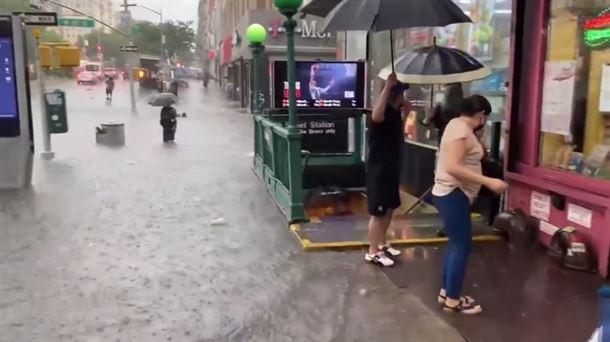 Varias inundaciones se registraron en Nueva York ante la aproximación de la tormenta Elsa
