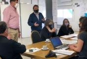 """Cipolletti: Di Tella estuvo presente en la muestra de prototipos de viviendas para el programa """"Construyendo Juntos"""""""