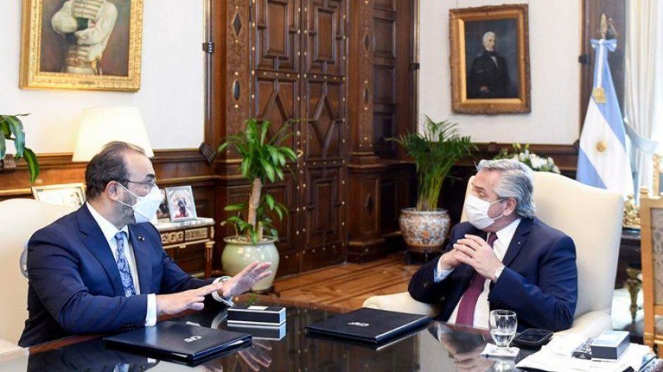 Fernández y el titular del Banco de Desarrollo de América Latina (CAF) acordaron un financiamiento por 2.670 millones de dólares